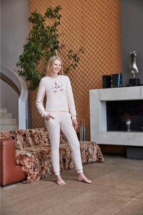 Anıl 9540 Kadın Pijama Polar Unicornlu Sweatshirt Pantolon Tk. 4