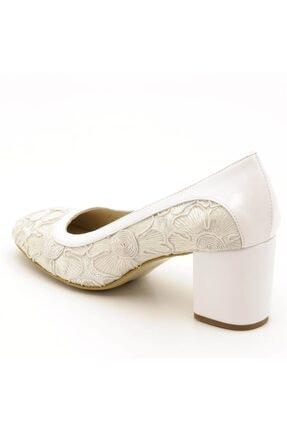İriadam Kadın Beyaz Büyük Numara Ayakkabı 1924 2