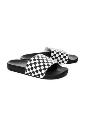 Vans Beyaz Erkek Terlik V4kııp9 Slıde-on (Checkerboard) Whıte 1