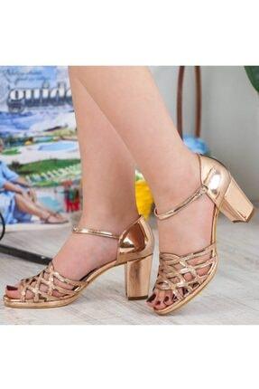 Adım Adım Bakır Yüksek Topuk Abiye Kadın Ayakkabı • A182ysml0019 0