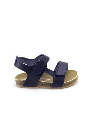 Minipicco Erkek Çocuk Lacivert Deri Ortopedik Sandalet 0