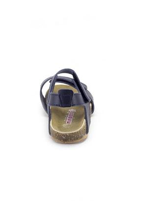 Minipicco Erkek Çocuk Lacivert Deri Ortopedik Sandalet 3