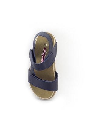 Minipicco Erkek Çocuk Lacivert Deri Ortopedik Sandalet 4