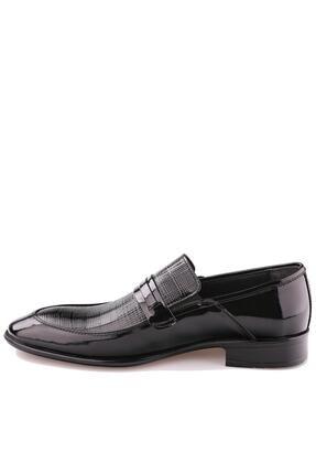 Calvano Hakiki Deri Siyah Erkek Klasik Ayakkabı 2