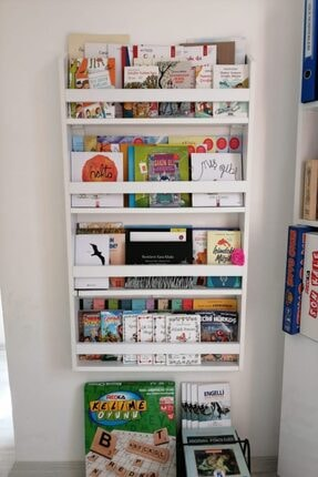 decomira Montessori Çocuk Odası Eğitici Kitaplık 0