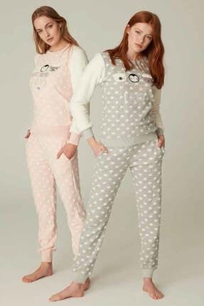 Feyza Bayan Puantiyeli Pijama Takımı 0