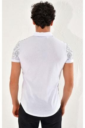 Efor Ts 758 Slim Fit Beyaz Spor T-shirt 2