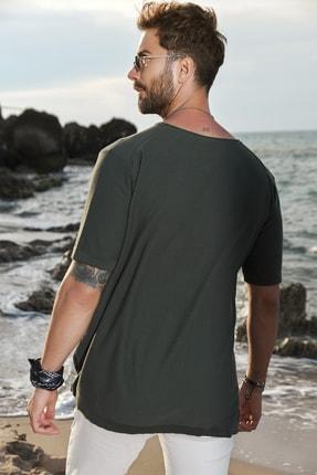 CHUBA Erkek Bisiklet Yaka Oversize Triko T-shirt 20s404 3