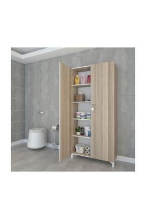 Kenzlife Mutfak Dolabı Çilem 188*070*032 Crd Kilitli Ayaklı Banyo Evrak Ofis Kitaplık Ayakkabılık Kiler 0