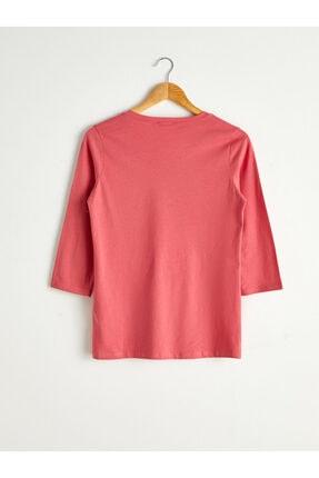 LC Waikiki Kadın Koyu Pembe  Tişört 1