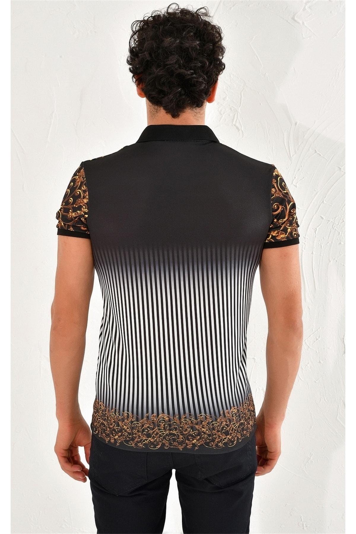 Efor Ts 757 Slim Fit Siyah Spor T-shirt