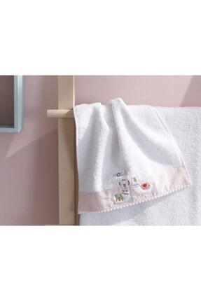 English Home Lama Pamuklu Bebek El Havlusu 30x40 Cm Beyaz 0