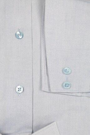 Jakamen Mavi Slim Fit Cepsiz Desenli Gömlek 2
