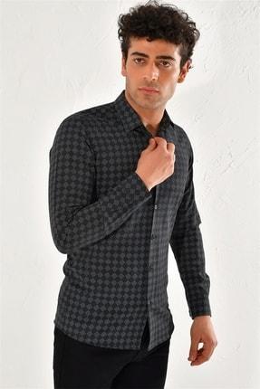 Efor G 1425 Slim Fit Siyah Spor Gömlek 2