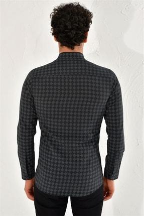 Efor G 1425 Slim Fit Siyah Spor Gömlek 3