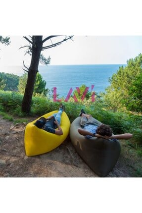 Ankaflex Pratik Şişme Yatak Şezlong Hava Ile Dolan Kamp Plaj Deniz Yatağı Şişme Koltuk 4