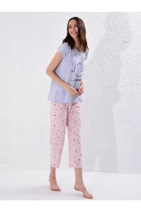 LC Waikiki Kadın Açık Pembe Baski  Pijama Takım 1