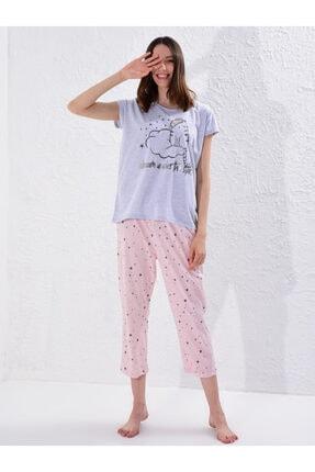 LC Waikiki Kadın Açık Pembe Baski  Pijama Takım 2