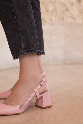 Straswans Roy Bayan Deri Topuklu Ayakkabı Pudra 1