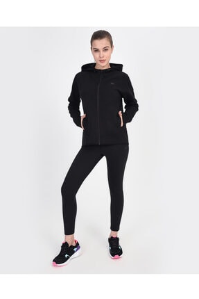 2X I-Lock W Elevated FZ Jacket Kadın Siyah Fermuarlı Eşofman Üstü S201055-001 resmi