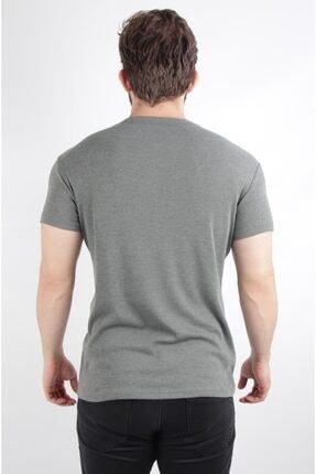 ALEXANDERGARDI Yarim Patli Kaşkorse Kumaş T-shirt, Mint Yeşili (B20-08119) 3