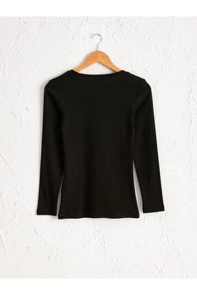 LC Waikiki Kadın Siyah  Tişört 1