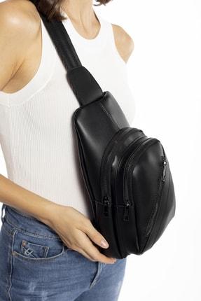 Madamra Aynı Butikte 2. Ürün 1 TL Siyah Kadın Üç Bölmeli Çanta 2