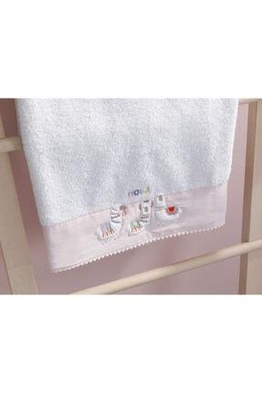 English Home Lama Pamuklu Bebe Banyo Havlusu 70x130 Cm Beyaz 1
