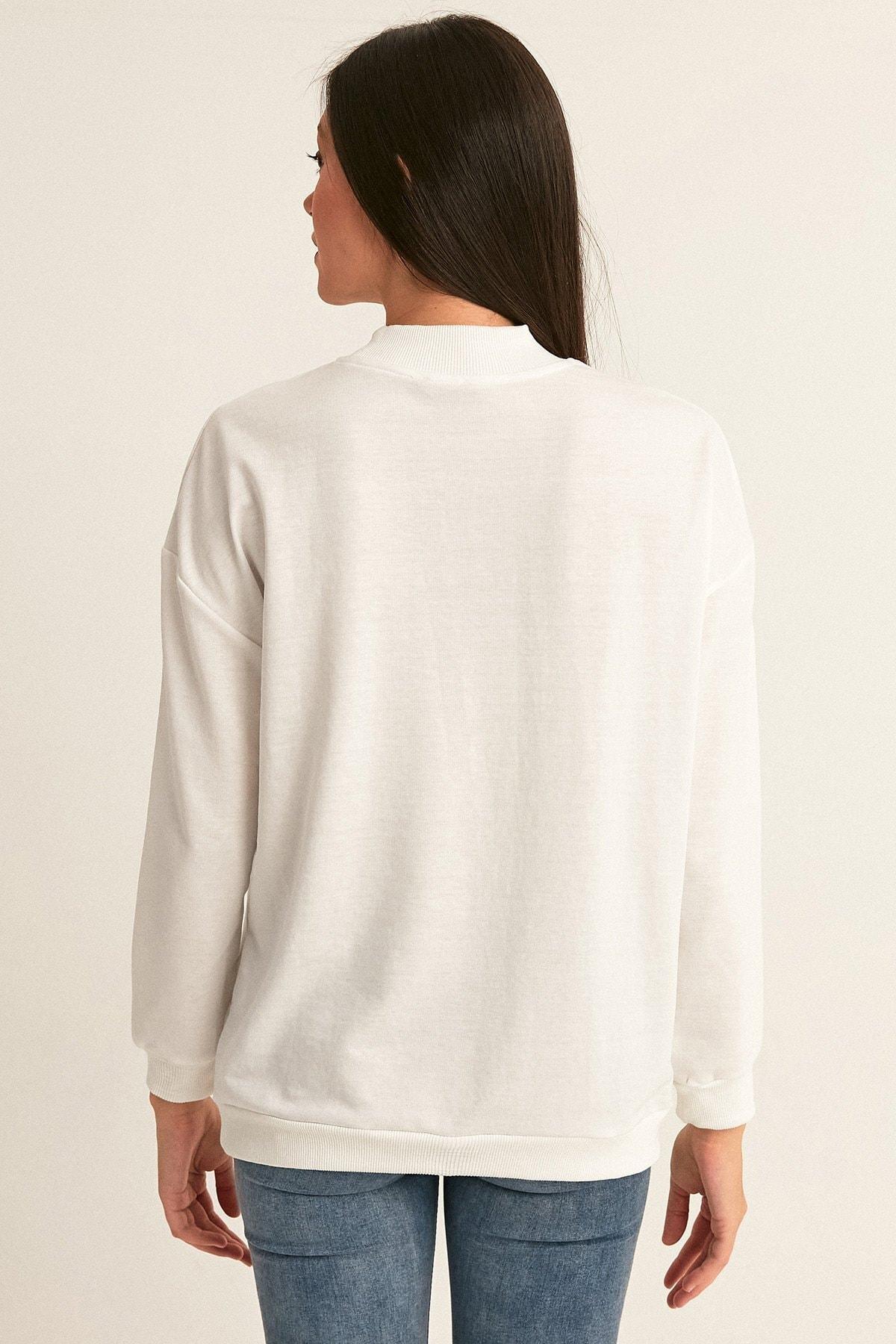 Fullamoda Becool Baskılı Sweatshirt