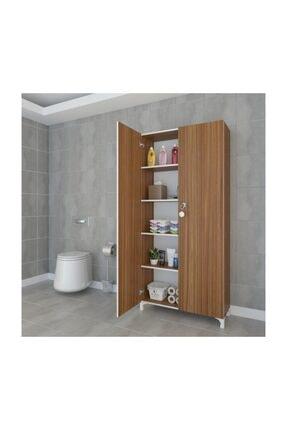 Kenzlife Mutfak Dolabı Çilem 188*090*032 Cvz Kilitli Ayaklı Banyo Evrak Ofis Kitaplık Ayakkabılık Kiler 0