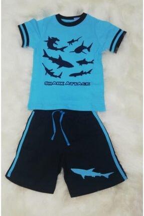 Wonder Kids Wonderkids Erkek Çocuk Mavi Şortlu Pijama Takımı 130640 0