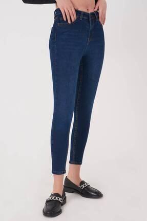 Addax Kadın Koyu Kot Rengi Cep Detaylı Jean Pantolon Pn12181 - Pnj ADX-0000023379 3