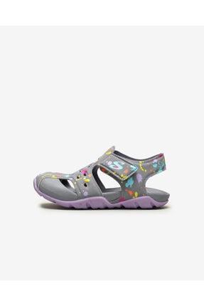Skechers SIDE WAVE - Küçük Kız Çocuk Gri Sandalet 0