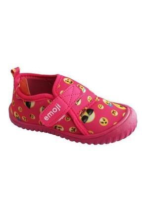 0030 Emoji Kız Çocuk Panduf Ev Anaokulu Kreş Ayakkabısı resmi