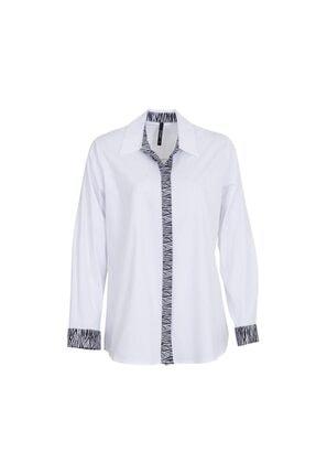 Grandı 1241 Buyuk Beden Bluz Beyaz