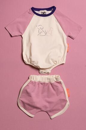 Moi Noi Alttan Çıtçıtlı Şortlu Unisex Bebek 2 Parça Takım 0