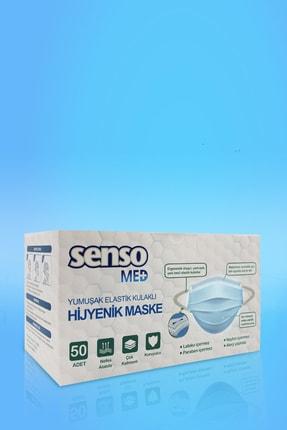 Senso Med Yumuşak Elastik Kulaklı Sensomed Medikal Maske 50 Adet 3
