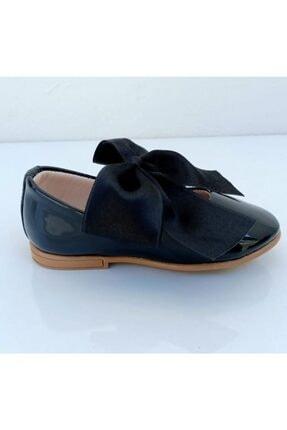 Riccotarz Kız Çocuk Siyah  Kurdaleli Rugan Babet Ayakkabı 1