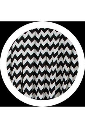 ALTINPAMUK Fon Perde Duck 1 Takım 2 Adet Fon 80x260 Cm Pileli Dikim Zigzag Siyah 2