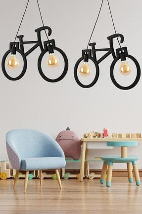 Bundera Wooden Bisiklet Sarkıt Avize Lüks Rustik Modern Dekoratif Lamba 3