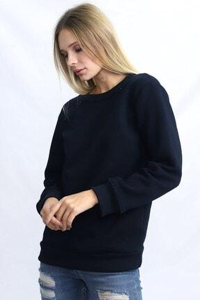Deafox Lacivert Kadın Üç Iplik Sweatshirt 1