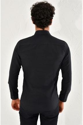 Efor Gk 572 Slim Fit Siyah Klasik Gömlek 3