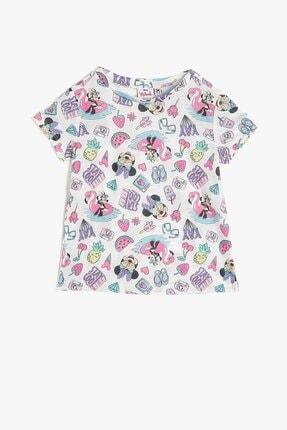 Koton Kız Çocuk Minnie By Gri T-shirt 0