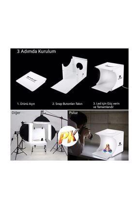 PULUZ Iki Led Işıklı Ürün Fotoğraf Çekim Stüdyosu - Fotoğraf Çadırı 4