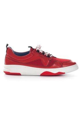 Picture of Kırmızı Hakiki Deri Comfort Taban Bağcıklı Erkek Spor Ayakkabı • A20eylbr0017