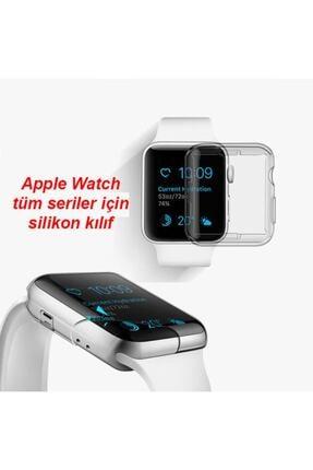 Gate Apple Watch 40 Mm Uyumlu Şeffaf Silikon Kılıf 40mm Watch Tam Koruma Koruyucu 4