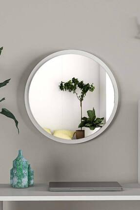 bluecape Yuvarlak Beyaz Duvar Salon Ofis Aynası 45cm 2