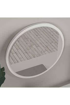 bluecape Yuvarlak Beyaz Duvar Salon Ofis Aynası 45cm 4