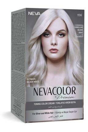 Neva Color Nevacolor Premium Gümüş Gri Tonlayıcı Krem Saç Boyası 0