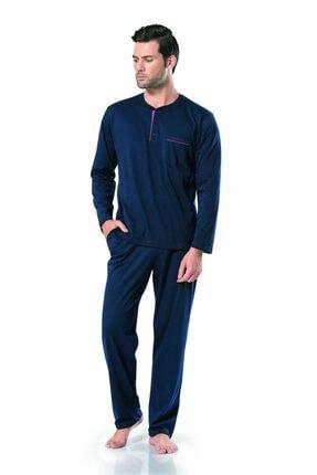 Pierre Cardin Erkek Uzunkollu Lacivert Penye Pijama Takımı 5454 0